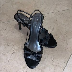 Nine West black sandal heels
